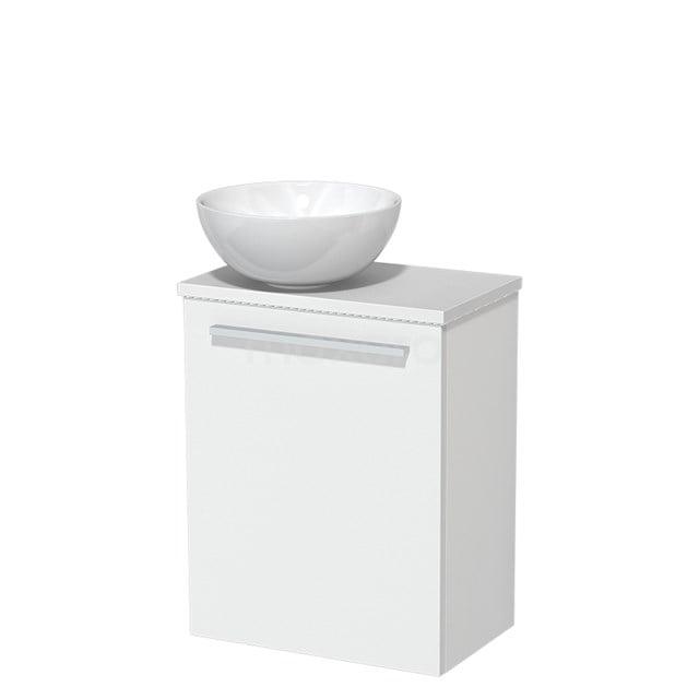 Toiletmeubel met Waskom Keramiek Modulo Mat Wit 41 cm TMK10-00193