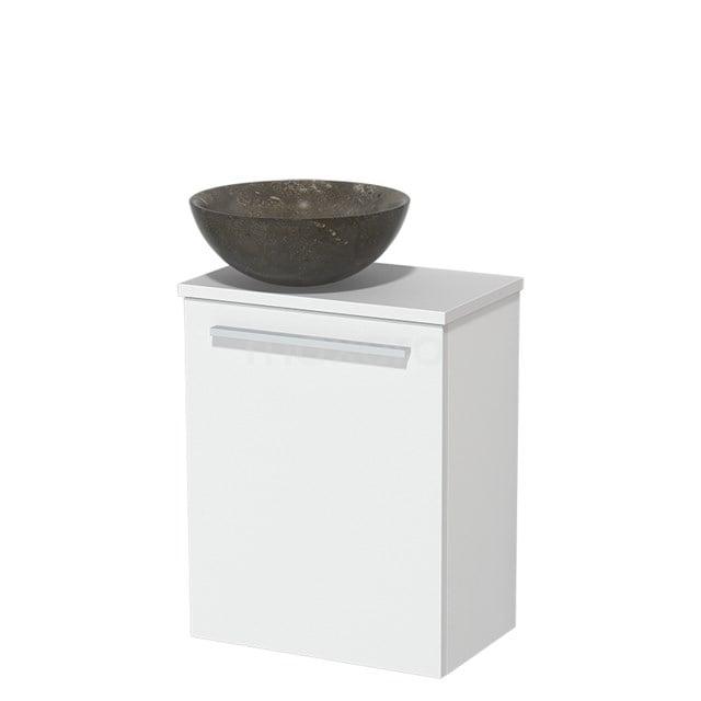 Toiletmeubel met Waskom Natuursteen Modulo Mat Wit 41 cm TMK10-00194