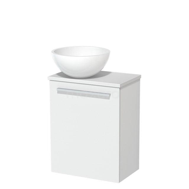 Toiletmeubel met Waskom Mineraalmarmer Glanzend Modulo Mat Wit 41 cm TMK10-00196