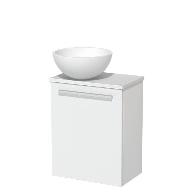 Toiletmeubel met Waskom Solid Surface Mat Modulo Mat Wit 41 cm TMK10-00197