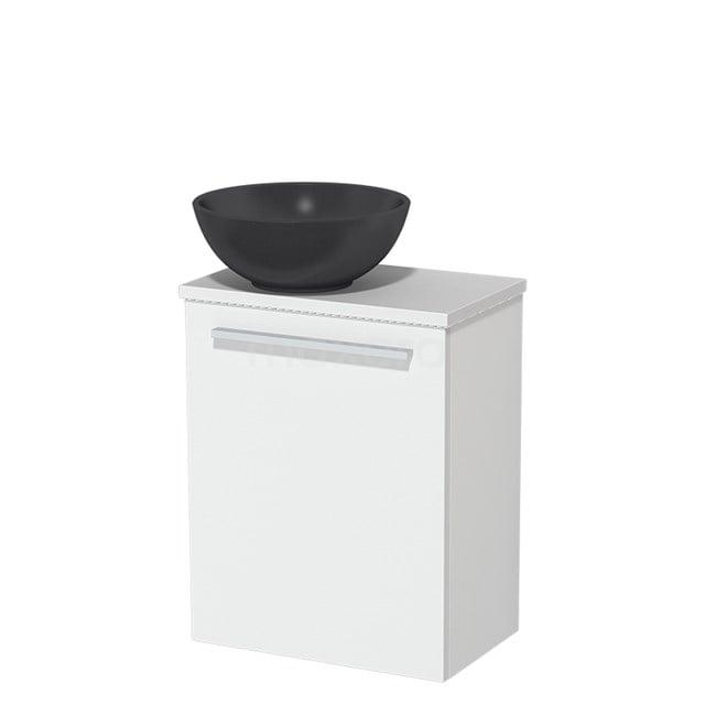 Toiletmeubel met Waskom Quartz Modulo Mat Wit 41 cm TMK10-00198