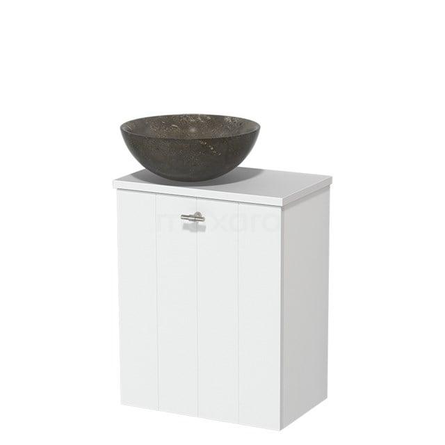 Toiletmeubel met Waskom Natuursteen Modulo Mat Wit 41 cm TMK10-00200