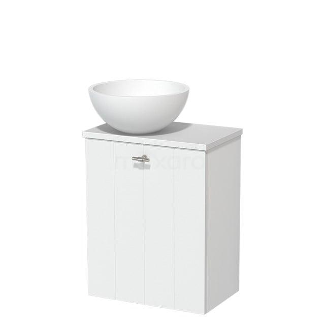 Toiletmeubel met Waskom Solid Surface Mat Modulo Mat Wit 41 cm TMK10-00203