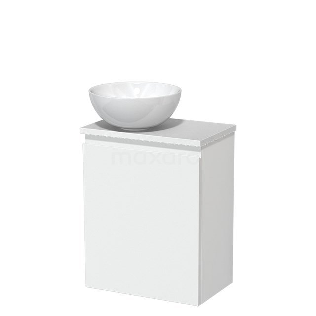 Toiletmeubel met Waskom Keramiek Modulo Mat Wit 41 cm TMK10-00205