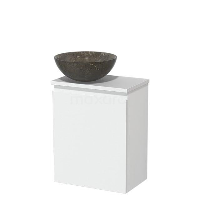 Toiletmeubel met Waskom Natuursteen Modulo Mat Wit 41 cm TMK10-00206