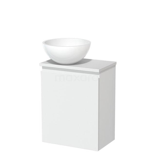 Toiletmeubel met Waskom Mineraalmarmer Glanzend Modulo Mat Wit 41 cm TMK10-00214