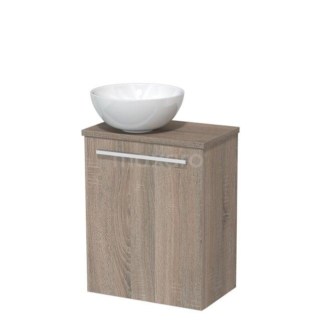 Toiletmeubel met Waskom Keramiek Modulo Eiken 41 cm TMK10-00241
