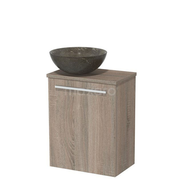Toiletmeubel met Waskom Natuursteen Modulo Eiken 41 cm TMK10-00242