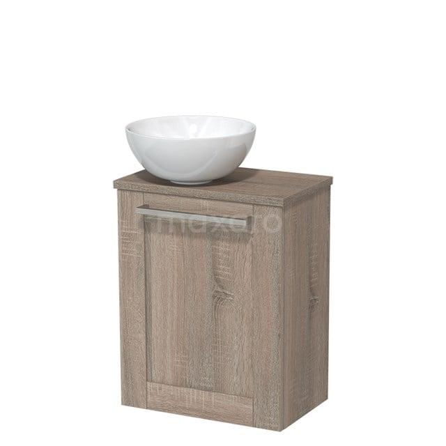 Toiletmeubel met Waskom Keramiek Modulo Eiken 41 cm TMK10-00247