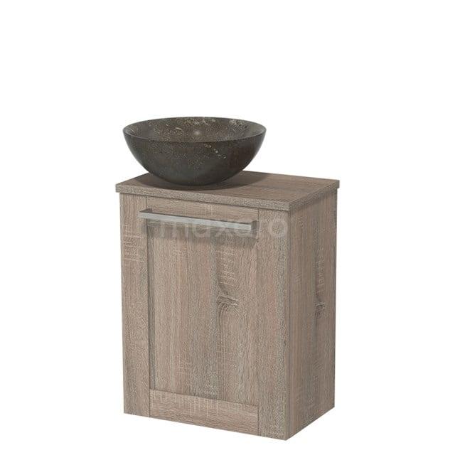 Toiletmeubel met Waskom Natuursteen Modulo Eiken 41 cm TMK10-00248
