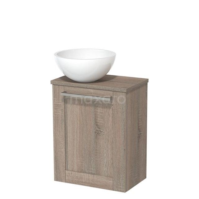 Toiletmeubel met Waskom Mineraalmarmer Glanzend Modulo Eiken 41 cm TMK10-00250