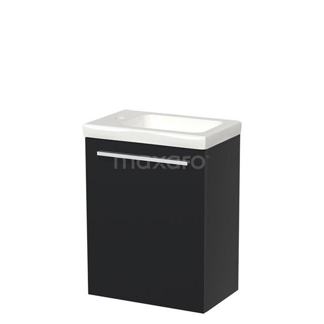 Toiletmeubel met Wastafel Keramiek Modulo Mat Zwart 40 cm TMW10-00001