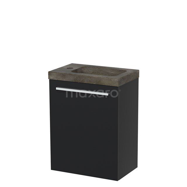 Toiletmeubel met Wastafel Natuursteen Modulo Mat Zwart 40 cm TMW10-00003