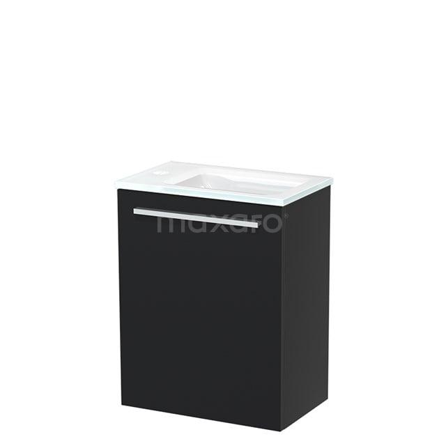 Toiletmeubel met Wastafel Glas Modulo Mat Zwart 40 cm TMW10-00004