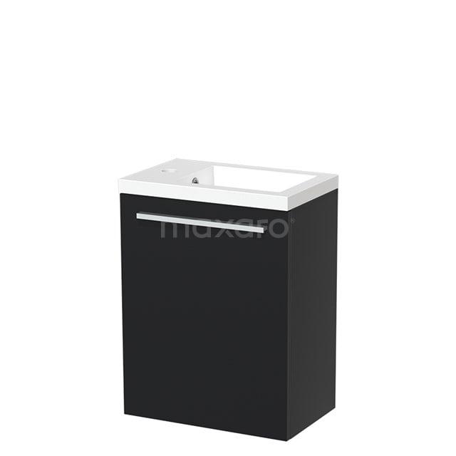 Toiletmeubel met Wastafel Mineraalmarmer Glanzend Modulo Mat Zwart 40 cm TMW10-00006