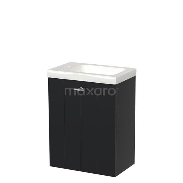 Toiletmeubel met Wastafel Keramiek Modulo Mat Zwart 40 cm TMW10-00007