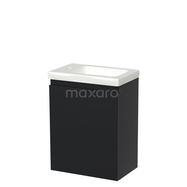 Toiletmeubel met Wastafel Keramiek Modulo Mat Zwart 40 cm TMW10-00013
