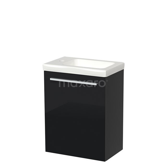 Toiletmeubel met Wastafel Keramiek Modulo Hoogglans Zwart 40 cm TMW10-00049