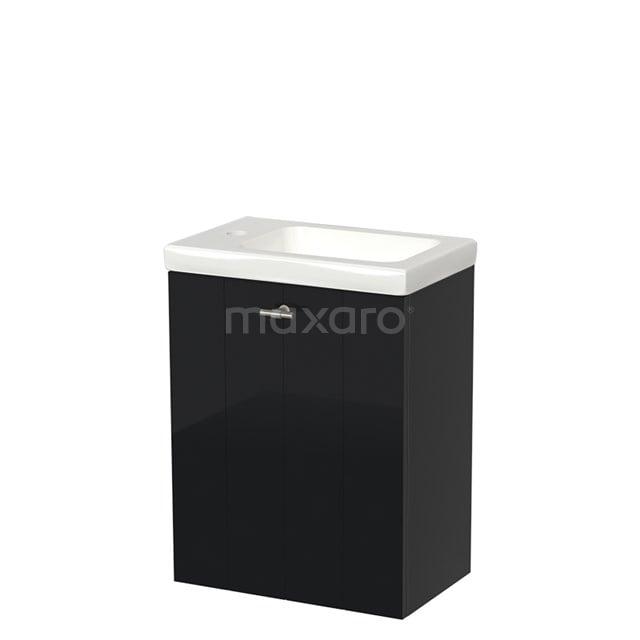 Toiletmeubel met Wastafel Keramiek Modulo Hoogglans Zwart 40 cm TMW10-00055