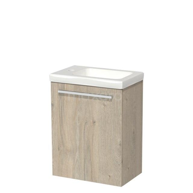 Toiletmeubel met Wastafel Keramiek Modulo Lichtgrijs Eiken 40 cm TMW10-00073