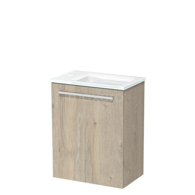 Toiletmeubel met Wastafel Glas Modulo Lichtgrijs Eiken 40 cm TMW10-00076