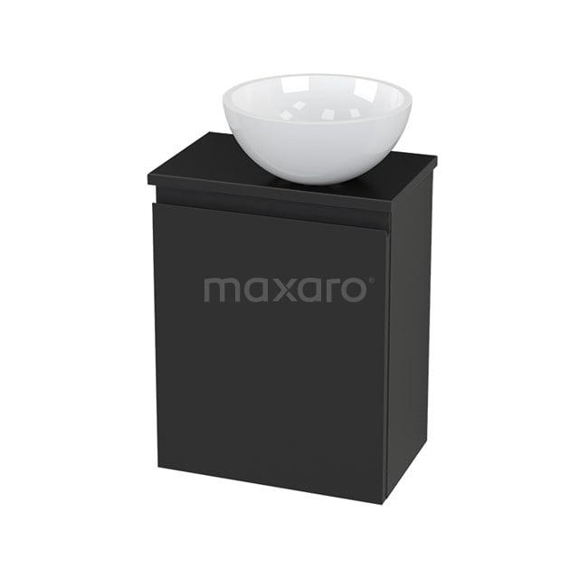 Toiletmeubel met Waskom Mineraalmarmer Glanzend Modulo+ Pico Carbon 41cm BMC000809