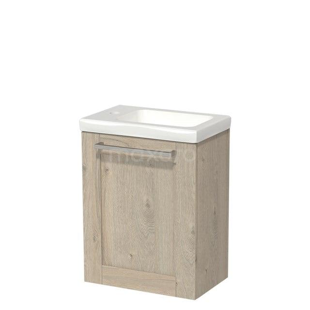 Toiletmeubel met Wastafel Keramiek Modulo Lichtgrijs Eiken 40 cm TMW10-00079