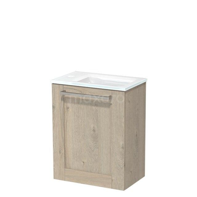 Toiletmeubel met Wastafel Glas Modulo Lichtgrijs Eiken 40 cm TMW10-00082