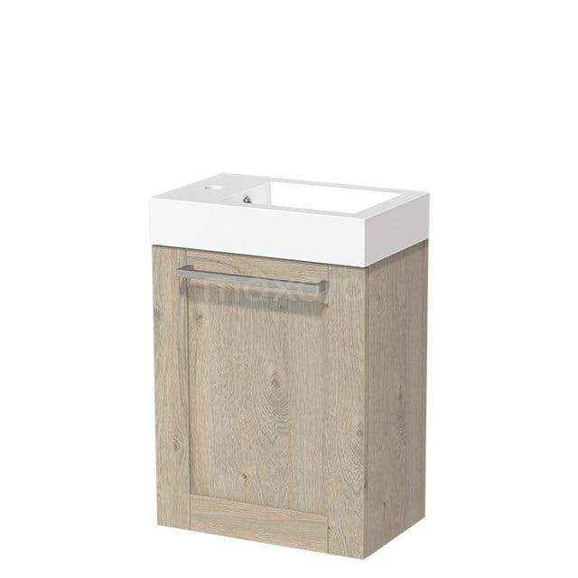 Toiletmeubel met Wastafel Mineraalmarmer Glanzend Modulo Lichtgrijs Eiken 40 cm TMW10-00083