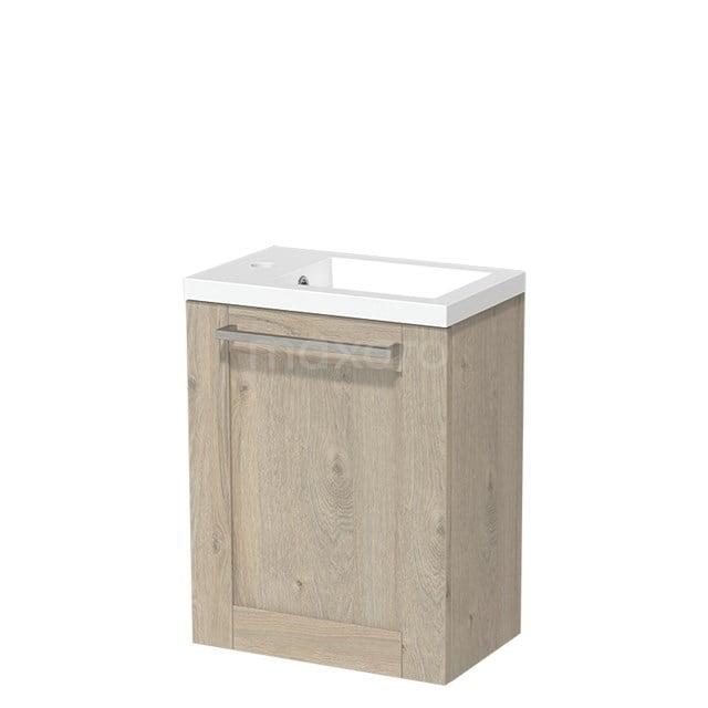 Toiletmeubel met Wastafel Mineraalmarmer Glanzend Modulo Lichtgrijs Eiken 40 cm TMW10-00084