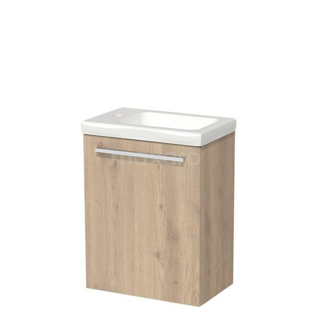 Toiletmeubel met Wastafel Keramiek Modulo Lichtbruin Eiken 40 cm TMW10-00085