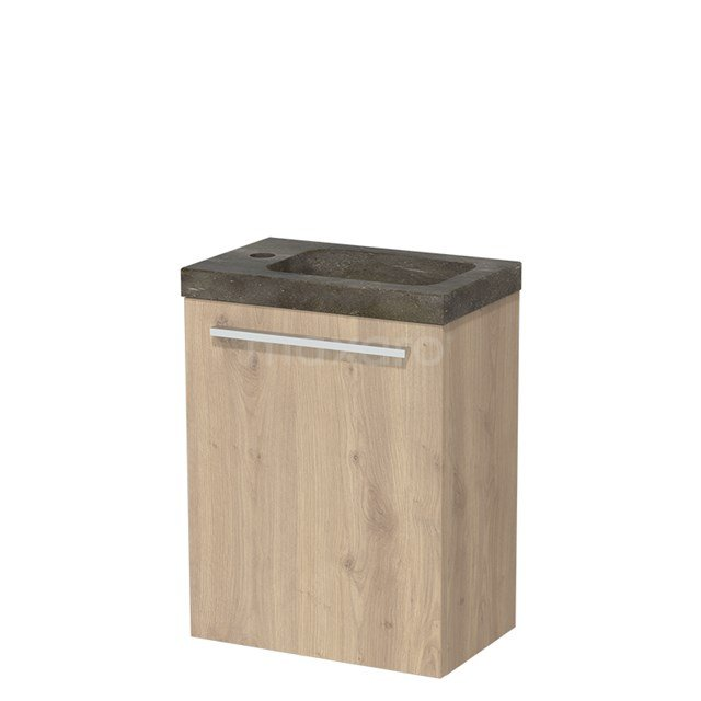 Toiletmeubel met Wastafel Natuursteen Modulo Lichtbruin Eiken 40 cm TMW10-00087