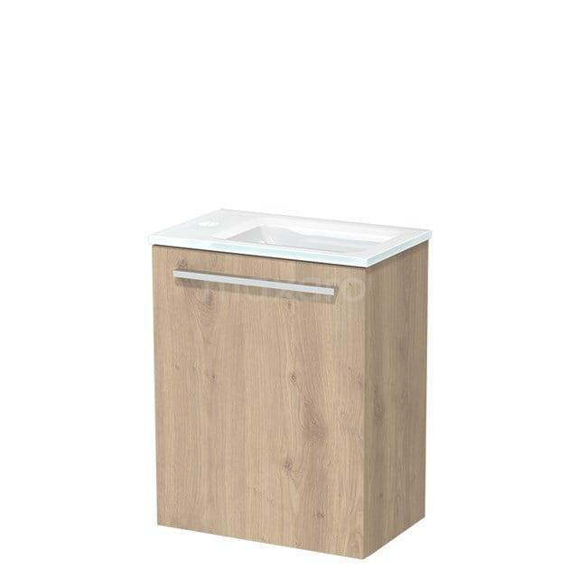 Toiletmeubel met Wastafel Glas Modulo Lichtbruin Eiken 40 cm TMW10-00088