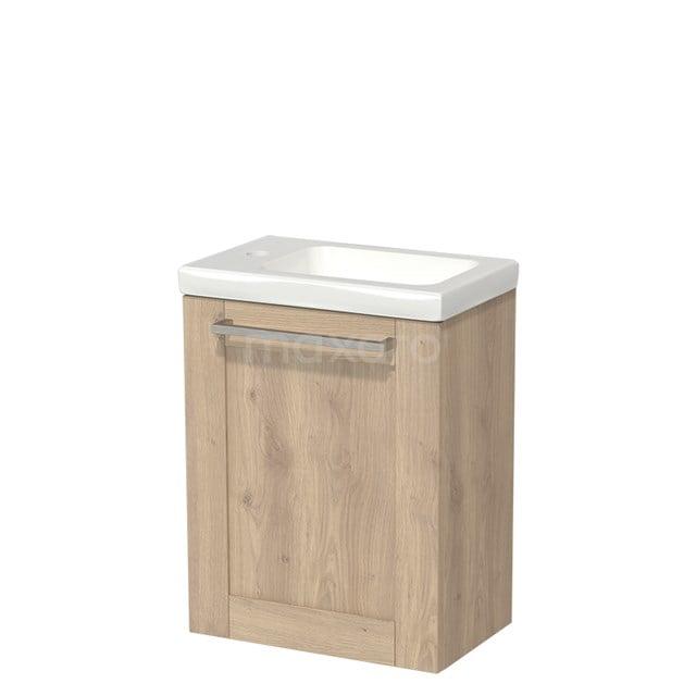Toiletmeubel met Wastafel Keramiek Modulo Lichtbruin Eiken 40 cm TMW10-00091