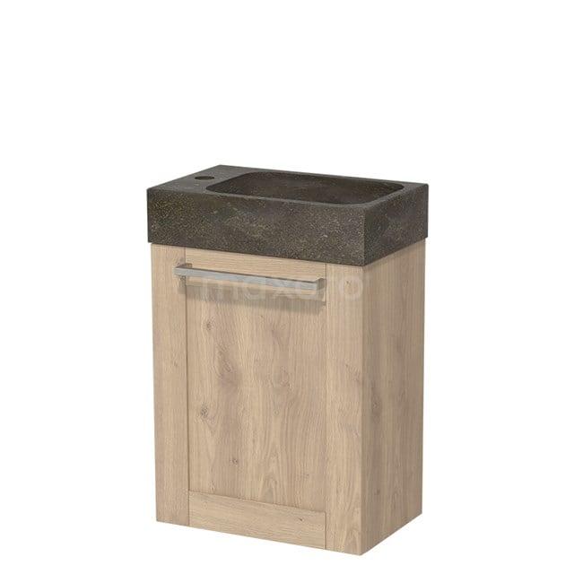 Toiletmeubel met Wastafel Natuursteen Modulo Lichtbruin Eiken 40 cm TMW10-00092