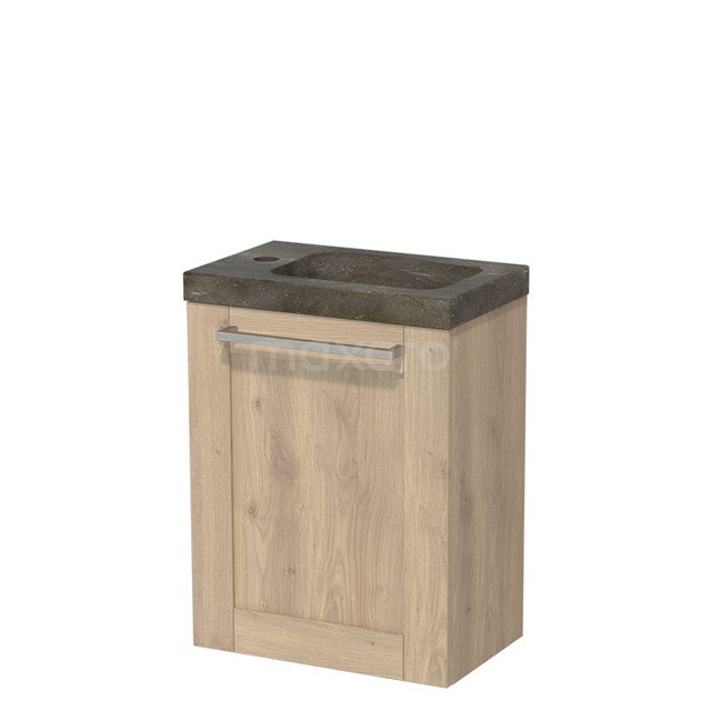 Toiletmeubel met Wastafel Natuursteen Modulo Lichtbruin Eiken 40 cm TMW10-00093
