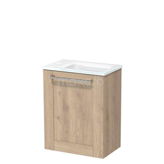 Toiletmeubel met Wastafel Glas Modulo Lichtbruin Eiken 40 cm TMW10-00094