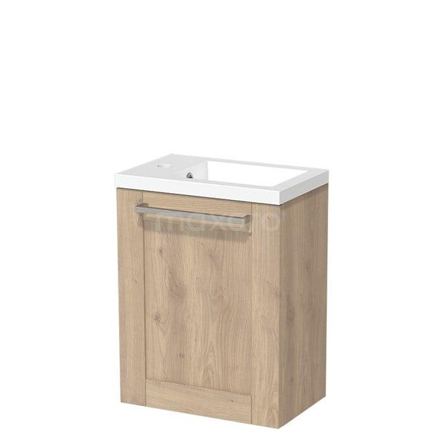 Toiletmeubel met Wastafel Mineraalmarmer Glanzend Modulo Lichtbruin Eiken 40 cm TMW10-00096