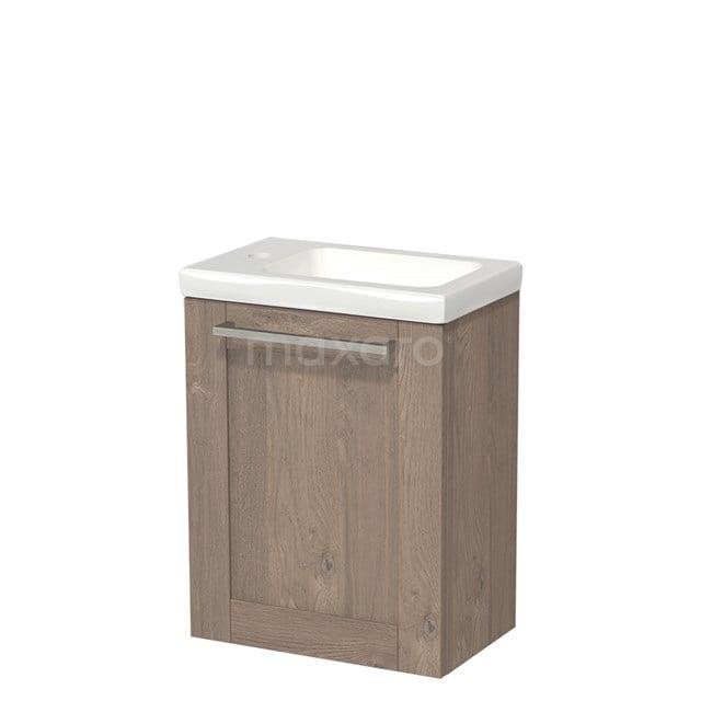Toiletmeubel met Wastafel Keramiek Modulo Middenbruin Eiken 40 cm TMW10-00103