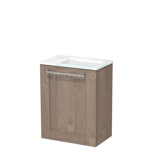 Toiletmeubel met Wastafel Glas Modulo Middenbruin Eiken 40 cm TMW10-00106