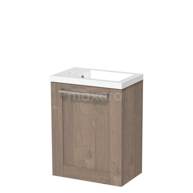 Toiletmeubel met Wastafel Mineraalmarmer Glanzend Modulo Middenbruin Eiken 40 cm TMW10-00108