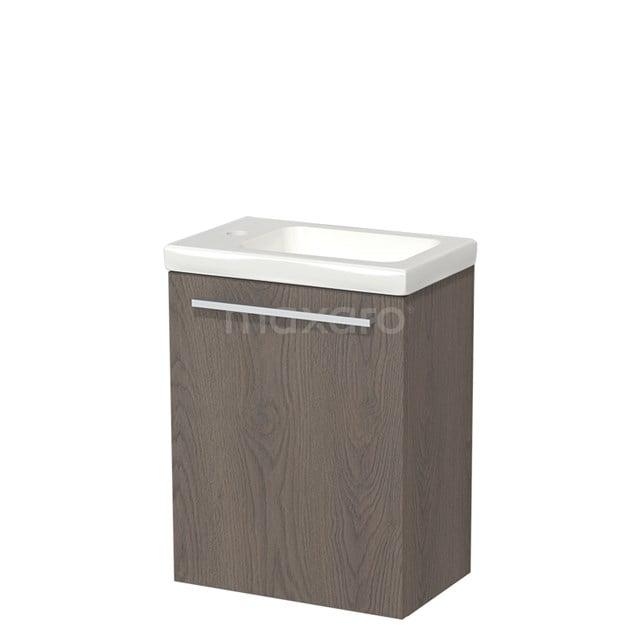 Toiletmeubel met Wastafel Keramiek Modulo Donkerbruin Eiken 40 cm TMW10-00109