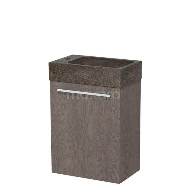 Toiletmeubel met Wastafel Natuursteen Modulo Donkerbruin Eiken 40 cm TMW10-00110