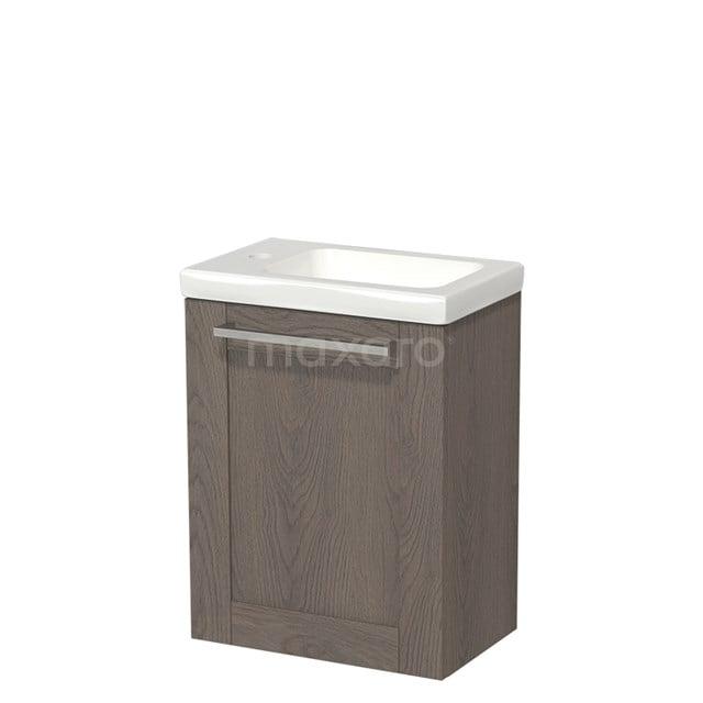 Toiletmeubel met Wastafel Keramiek Modulo Donkerbruin Eiken 40 cm TMW10-00115