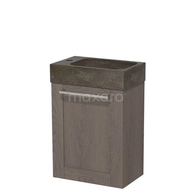 Toiletmeubel met Wastafel Natuursteen Modulo Donkerbruin Eiken 40 cm TMW10-00116