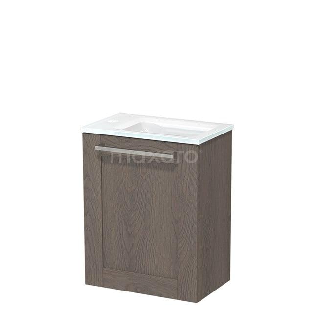 Toiletmeubel met Wastafel Glas Modulo Donkerbruin Eiken 40 cm TMW10-00118