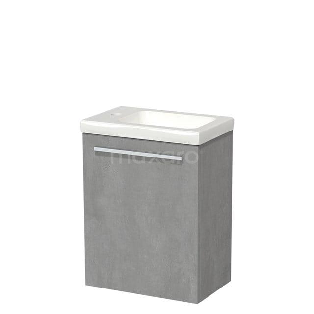 Toiletmeubel met Wastafel Keramiek Modulo Lichtgrijs Beton 40 cm TMW10-00133