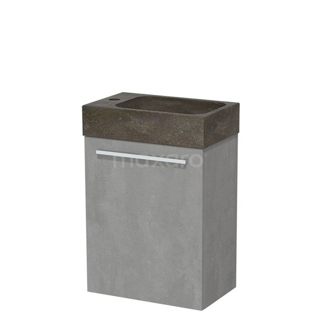 Toiletmeubel met Wastafel Natuursteen Modulo Lichtgrijs Beton 40 cm TMW10-00134