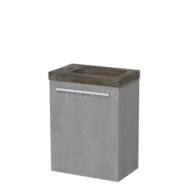 Toiletmeubel met Wastafel Natuursteen Modulo Lichtgrijs Beton 40 cm TMW10-00135