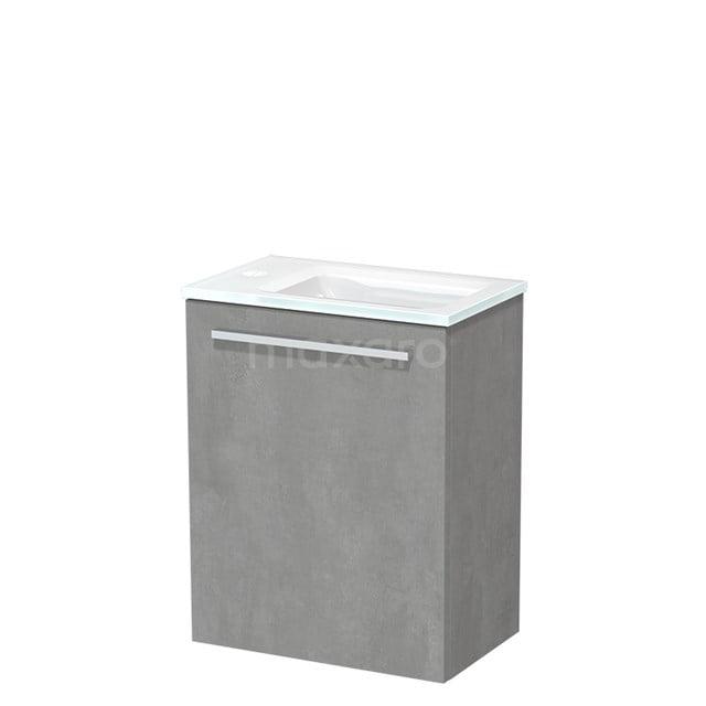 Toiletmeubel met Wastafel Glas Modulo Lichtgrijs Beton 40 cm TMW10-00136